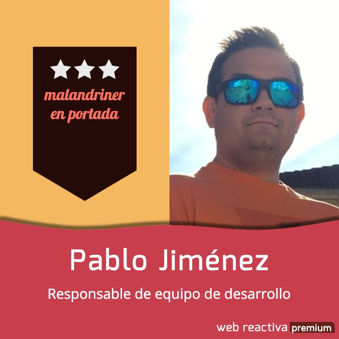 Malandriners en portada: Pablo Jiménez