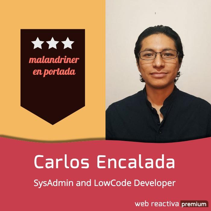 Carlos Encalada, malandriner en portada