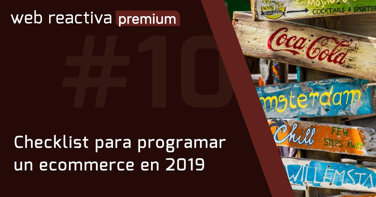 WRP 10. Checklist para programar un ecommerce en 2019